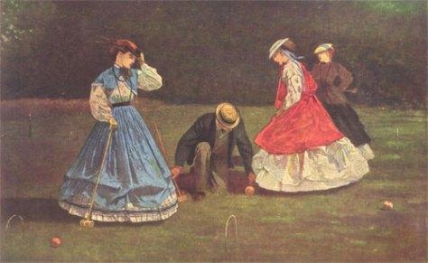 Croquet by Winslow Homer