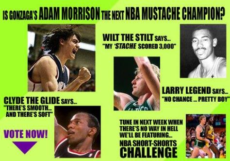 NBA Mustache Faceoff