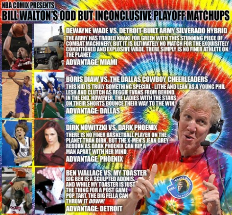 Bill Walton Playoff Matchup