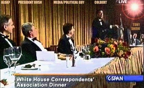 Steven Colbert, President Bush, White House Correspondent's Dinner