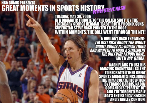 More proof that Steve Nash is hilarious (and older videos)