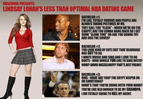 Lindsay Lohan's NBA Dating Game