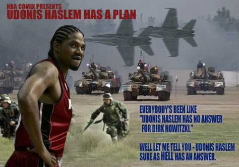Udonis Haslem has a Plan for Dirk Nowitzki