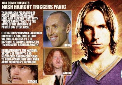 Steve Nash Haircut Triggers Panic