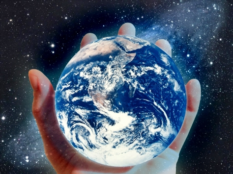 the Earth in the palm of your hand?